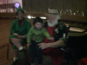 With desert-style Santa