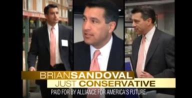 AAF ad calling Sandoval a conservative (screen grab)