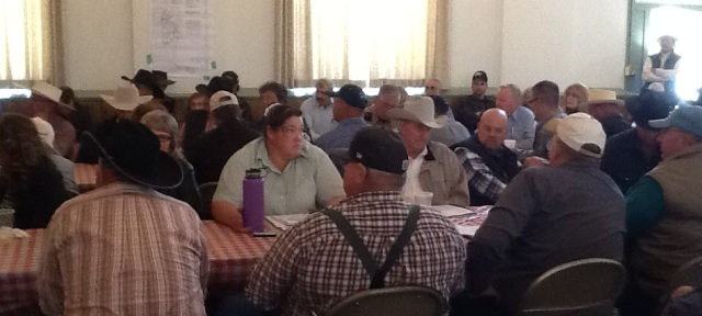 More than 100 crowded into church to talk about ranchers' issues with the BLM.