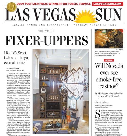 Today's Las Vegas Sun no-news paper