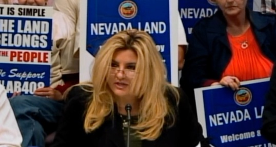 Michele Fiore, main sponsor of AB408 testifies Tuesday
