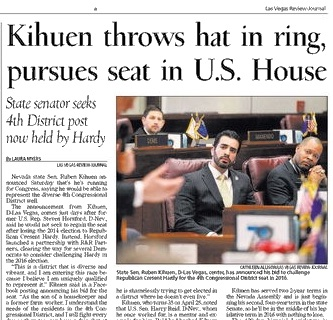 Kihuen announcement of Democratic bid for Congress was on 2B.