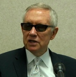 Reid discusses Yucca Mountain (Screen grab from R-J video)