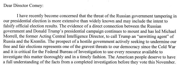 Reid FBI letter
