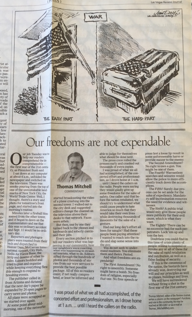 R-J editorial page from Sept. 16, 2001