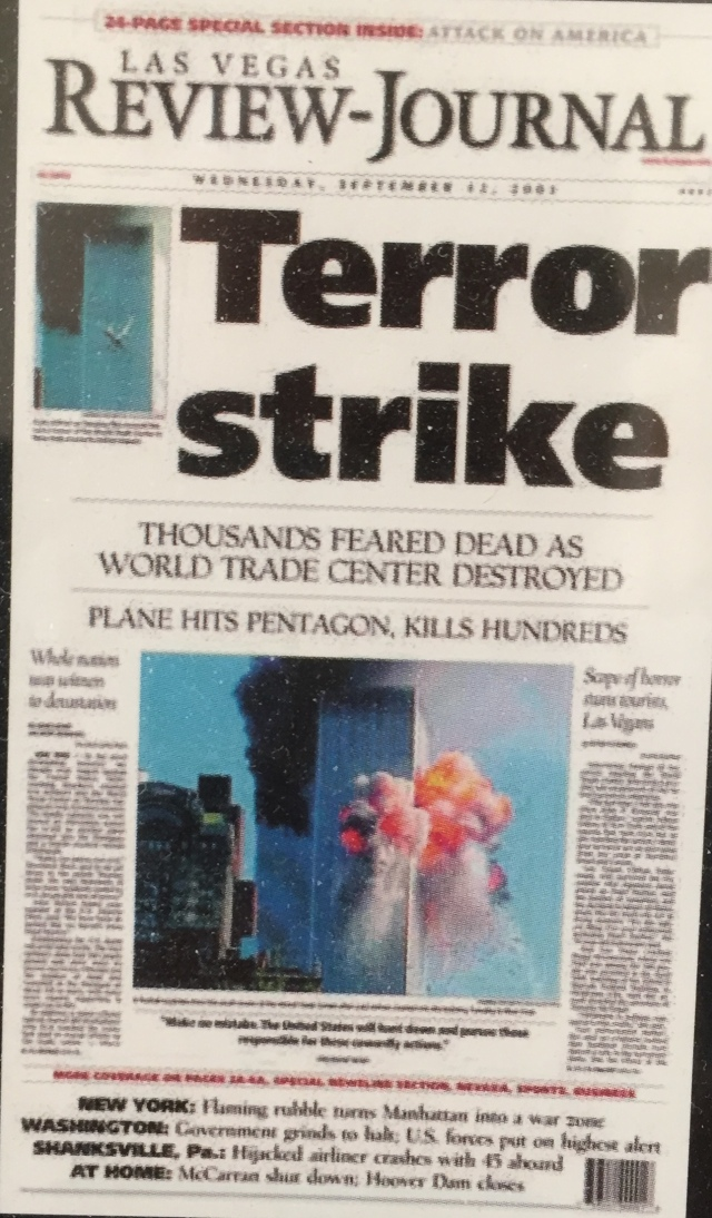 R-J front page from Newseum poster.
